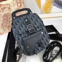 Wholesale trendy girls backpack for sale - Group buy 2020 Hot sale Oblique backpack Saddle design handbag super trendy fashion handbag mini backpack totes clutch Unisex