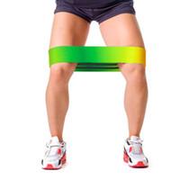 Wholesale Yoga practice resistance band butt beauty workout pilates fitness no slip stretchable loop belt S M L gradient