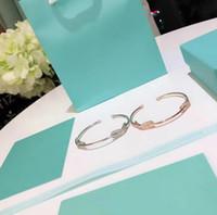 Wholesale wedding bracelets online - Woman Wedding Engagement Luxury Designer INFINITY Jewelry sterling silver material Double open diamond bracelet colors