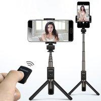 смартфон selfie monopod оптовых-Беспроводная связь Bluetooth Selfie Stick Мини Selfie Штатив с пультом дистанционного управления для iOS Android смартфон Портативный монопод