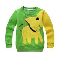 ingrosso vestiti svegli del bambino dell'elefante-Cute Cartoon Baby Girls Boys Felpe Toddler Maglione Abbigliamento elefante manica lunga camicetta Inverno caldo Tops Abbigliamento # IL5