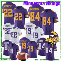 Wholesale 84 jersey resale online - 19 Adam Thielen Minnesota Viking Jersey Stefon Diggs Anthony Barr Kirk Cousins Randy Moss Smith Dalvin NEW Football Jerseys