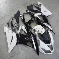 weiße kawasaki ninja plastics großhandel-colors + Botls Schwarz-weiße Motorradkappe der Spritzgussform Für Kawasaki ZX6R 2013 2014 2015 ZX 6R ABS-Kunststoffverkleidung