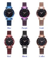 62ec996fc7a9 Bienestar de la mujer 2019 damas 6 colores Starry Sky roma reloj de dial de  moda perezoso reloj de cuarzo imán correa imán reloj