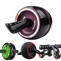 rollengewichte groihandel-Praktische faltbare Abdominal ABS-Rad-Rebound-Art-Mini Mute Fitnessgeräte für Innen Reduce Weight Verwenden Roll Pulley 32sd ZZ