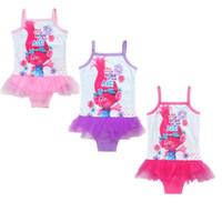 ingrosso vestiti giubbotto-Trolls Magic Elf Girls Beach Dress Bikini Oceanografia Romance Siamese Swimwear Vest Abbigliamento Bambino Bikini Baby costume da bagno Abbigliamento