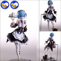 Wholesale world figure painting for sale - Group buy Re life In A Different World From Zero Rem Scale Painted Pvc Figure Servant Maid Girl Ver Rem Action Figure Toys Brinquedos J190719