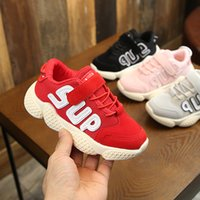 Wholesale toddler pink christmas shoes for sale - Group buy 2019 Spring Autumn Children Shoes Breathable Comfortable Kids Sneakers Boys Girls Toddler Shoes Red Black Pink Gray Baby Size