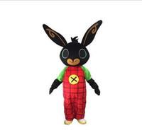 fancy hase großhandel-2019 hochwertige heiße Kaninchen BING Maskottchen Kostüm Hase Maskottchen Kostüm Weihnachten für Halloween Purim Kostüm
