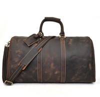 ingrosso borsa nera-2019 new fashion nero uomo donna borsa da viaggio borsone, borse da viaggio grande capacità borsa sportiva 58 cm con serratura sacchetto di polvere di testa
