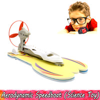 Wholesale plastic toy boats for kids resale online - Aerodynamic Speedboat Science Experiment Toy Power Electric Boat Handmade Assembling Educational Model Kits Toys for Kids Teens Students