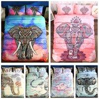 ingrosso letto di elefante della regina-7 Styles Bohemian Elephant 3D stampato Twin ~ King Size Bedding Sets Lenzuola Queen Set di biancheria da letto King Size Set consolatore
