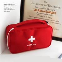 ingrosso scatola portatile di medicina-Svuota il kit di pronto soccorso Famiglia portatile Medicina Sacchetti di immagazzinaggio Home Office Sacchetti medici di sopravvivenza Corsa esterna Scatola di salvataggio di emergenza A443