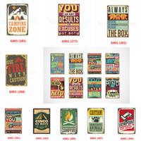 sinais de pub vintage venda por atacado-Se você está atravessando o inferno, continue indo Placa de metal do vintage Pintura em ferro Placas de lata Arte da parede Poster Beer Bar Pub Club Home decor FFA2887-1