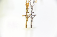 Wholesale 24k gold pendants for men resale online - Fashion Jewelry Jesus Cross Necklace K Gold Plated INRI Pendant For Women Men Fashion Religious Jewelry Crucifix Necklace