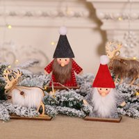 Wholesale christmas ornament tops for sale - Group buy 1PC Santa Claus Elk Wooden Crafts DIY Merry Christmas Wooden Ornaments Xmas Desk Top Ornament Kids Gifts Home Decor