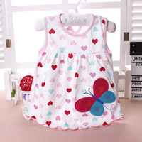 Wholesale baby girl dresses price resale online - Spring Summer Baby Dress Casual Style Baby Girls Dress High Quality Bow Girl Clothes Summer flower style low price
