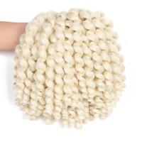 ingrosso estensioni sintetiche curl-Giacaicano Bounce Jumpy bacchetta arriccia le estensioni dei capelli 8 pollici 20Roots Afro Fluffy Crochet Trecce Bulk Treccia sintetica dei capelli