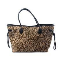 bolsa magnética snaps venda por atacado-Leopardo Canvas Tote Atacado Blanks Retalhos Cheetah Purse PU Punho e Fecho Magnético Snap Grande Bolsa DOM106388