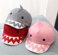 chapeau bébé réglable achat en gros de-Requin Mignon Bébé Chapeau Casquette De Baseball Réglable Enfants Chapeau pour Filles Printemps Été Toddler Chapeaux casquettes de baseball KKA6790