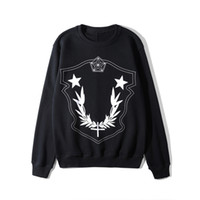 Wholesale Mens Designer Pullover Stars Printed Long Sleeve Sweatshirt Colors Crewneck Tops for Spring Autumn