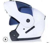 Wholesale dual lens half face helmet for sale - Group buy Motorcycle helmet double lens open face full face helmet racing helmet running unisex dual use