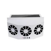Wholesale fans exhaust resale online - 2W car solar exhaust fan solar car exhaust fan cooling artifact Heat durable