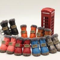 милые свадебные туфли оптовых-Милые собаки Австралия сапоги Pet противоскользящие обувь зима теплая Skidproof кроссовки лапы протекторы 4-шт. набор для щенков чихуахуа Йорки