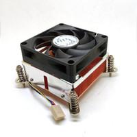 ventiladores de cobre para pc al por mayor-Disipador térmico del CPU Ventilador Enfriador Base de cobre 4 pines PWM 2011 enfriador 2U 2 Bolas CPU Ventilador PC Disipador térmico de la computadora para Intel
