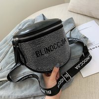 Wholesale rhinestones for cell phones for sale – best fashion messenger bag women s Shining Rhinestone bags women s soft leather bags for women large shoulder bag ladies