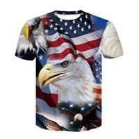 seksi amerikan bayrağı tops toptan satış-2019 Yeni ABD Bayrağı Tişörtü Erkek / Bayan Seksi 3d Tişört Baskı Çizgili Amerikan Bayrağı Erkekler Tişört Yaz Tees Ypf271 Tops
