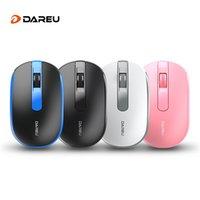 nano maus großhandel-DAREU LM105G Funkmaus Superschlanke Mäuse 2,4 GHz Funkübertragung 1000 DPI NANO Empfänger USB Plug & Play Laptop PC Maus