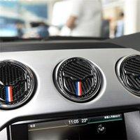 auto modifizierte aufkleber groihandel-Carbon-Faser-Auto-Klimaanlage Outlet Modified Klimaanlage Air-out-Panel-Abdeckung Innenaufkleber für den Ford Mustang