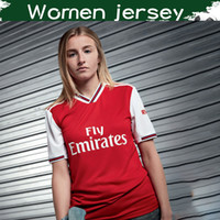 weibliche fußball-uniformen großhandel-Frauen Gunners Football Club Home Red Fußball Jersey 2019/20 Frauen Highbury Fußball Trikot 2019 Top-Qualität weibliche Fußballuniform
