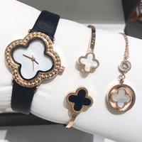 три ожерелья оптовых-женщины часы швейцарские часы браслет ожерелье из трех частей дизайнерские часы движение кварцевые часы кожаный ремешок Наручные часы MONTRE де люкс