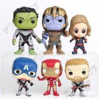 marvel superhéroes figuras de acción al por mayor-Superhéroe más caliente Figuras de Acción Juguetes 10cm Marvel Avengers 4 muñecos War Collection PVC Infinity Hulk Iron Man Juguetes Doctor Extraño para niños
