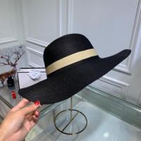 boks şapkaları toptan satış-Yaz kadın Geniş Ağız Şapkalar moda rahat şapkalar tasarımcı mektubu yün şapka açık eğlence kutu ile sıcak top caps est