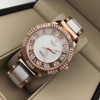 top cadeaux de noel pour les femmes achat en gros de-Top Marque Femmes Montres de cadeau de Noël Bracelets pleine quartz en acier diamant Montres femmes Bracelet Montre femme Medusa Lady Montre Reloj