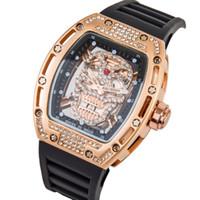 Wholesale bezel rectangle resale online - 2019 black watch men s casual ceramic bezel watch car date men s dress watch hot sale men s clock gift reloj date