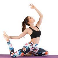 Wholesale hot girls yoga pants for sale - Group buy 17 Styles Hot Sale Fashion New Ladies Stitching Yoga Running Pants Fashion Slim Black Print Sport Pant Women Leggings Gym Girl