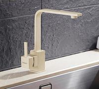 Wholesale rotating swivel mount resale online - Polished Black Brass Swivel Kitchen Sinks Faucet degree rotating Kitchen Mixer Tap H