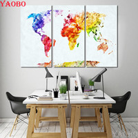 Wholesale map diamond for sale - Group buy 3 D DIY Diamond Painting Watercolor World Map Cross Stitch Diamond Mosaic Full Square Rhinestone Embroidery mosaic Picture