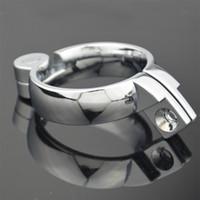 juguete sexual rápido al por mayor-Chastity macho Jaula Base Anillo Snap Ring Cock Ring Ring accesorios 3 Tamaño Elegir Para Chastity Deivce Juguetes Sexuales