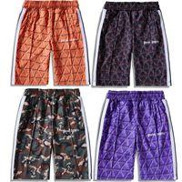 ingrosso alfabeti inglese-Palm Angels Shorts Uomo Streetwear Plaid Stripe Palm Angels Pantaloncini Vintage stampa Plaid Alfabeto inglese