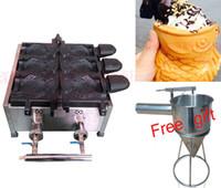 типы рыболовных судов оптовых-Бесплатная доставка Тип газа Мороженое Тайяки машина Конус Рыбы Мороженое