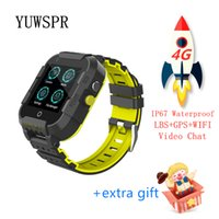 Wholesale gps processor for sale - Group buy Kids GPS tracker G smart watch Video Call quad core processor WiFi Hotspot GPS LBS WIFI Location Tracking child clock DF39