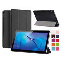 Wholesale google 3g tablets resale online - Magnetic Tri Fold Flip PU Stand Leather Case Smart Cover For Huawei MediaPad T1 T2 T3 T5 G M2 M3 Lite M5 M6