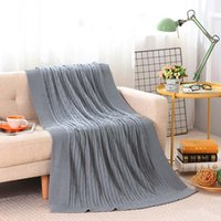 Wholesale cotton quilt coverlet resale online - Knitted Woolen Office Winter Warmer Blanket Women Manta Tippet Bedspread Sleeping Quilt Coverlet