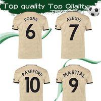 sport trikots zum verkauf großhandel-Größe S-4XL # 6 POGBA United Auswärtstrikot 2019/20 # 9 MARTIAL # 10 RASHFORD # 14 LINGARD Fußballtrikot Sport Uniformen Sales