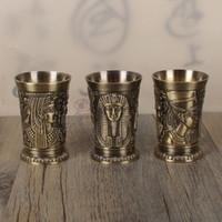 budismo india venda por atacado-Liga de Cobre Copos De Toast Copos de segurança Egito Mito Tema Cleopatra Rameses Tumbler Antigo Retro Óculos de Vinho New Arrival 19ll BB
